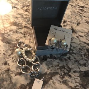 Kenneth Cole earrings and bracelet set